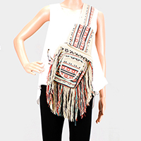 Fringe Crossbody Sling Backpack