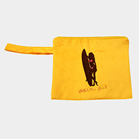 Athletic Girl Wet Bikini Beach Clutch Bag
