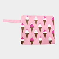 Ice Cream Wet Bikini Beach Clutch Bag
