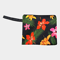 Floral Wet Bikini Beach Clutch Bag