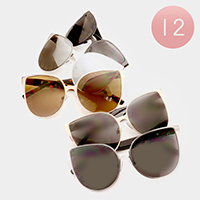 12 Pairs - Square cat eye sunglasses