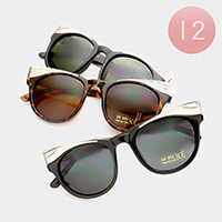 12 Pairs - Metal detail sunglasses