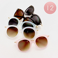 12 Pairs - Rounded sunglasses