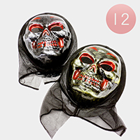 12 PCS - Halloween ghost masks