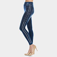 Bling boss jean leggings - jeggings