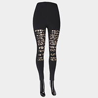 Double layer hole leggings