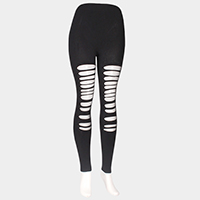 Mesh hole leggings