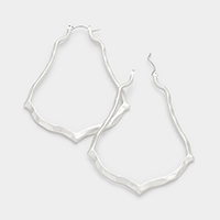 Hammered moroccan hoop pin catch earrings