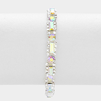 Rectangle rhinestone bracelet
