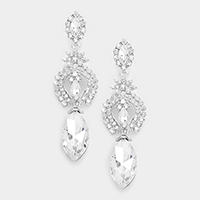 Marquise glass crystal earrings