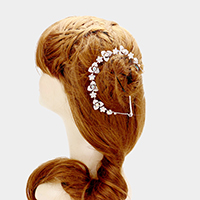 Crystal flower bun wrap headpiece