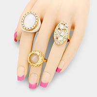 3 PCS - Statement multi-ring