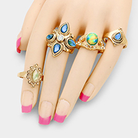 4 PCS - Statement multi-ring