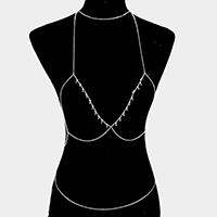 Bra outline body chain necklace