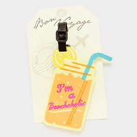 I'm a beachaholic _ Bon Voyage rubber luggage tag