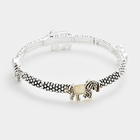 Mother of pearl elephant stretch bracelet