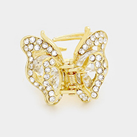Mini crystal butterfly hair jaw clip