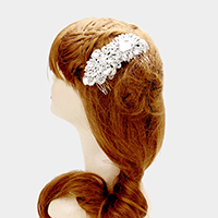 Glass crystal hair comb