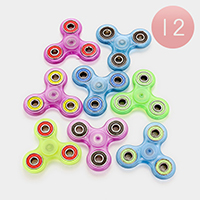 12 PCS - Glow in the dark hand spinner fidget toys