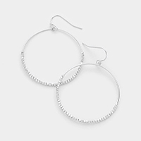 Metal bead hoop earrings