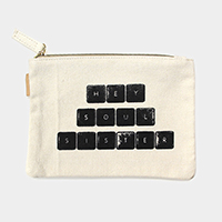 Soul sisters _ Cotton canvas eco pouch bag
