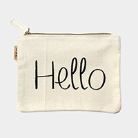 Hello _ Cotton canvas eco pouch bag