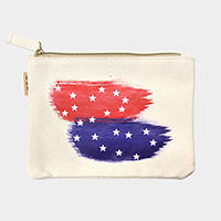 American flag _ Cotton canvas eco pouch bag