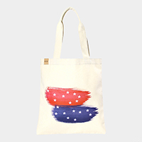 American flag _ Cotton canvas eco shopper bag
