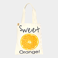 Orange _ Cotton canvas eco shopper bag