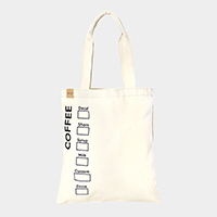 Coffee _ Cotton canvas eco shopper bag