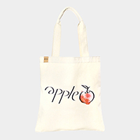 Apple _ Cotton canvas eco shopper bag