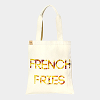 French fries _ Cotton canvas eco shopper bag