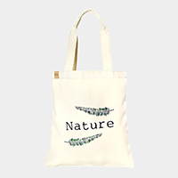 Leaf _ Cotton canvas eco shopper bag