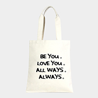 Be you _ Cotton canvas eco shopper bag