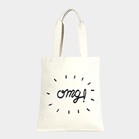 OMG _ Cotton canvas eco shopper bag