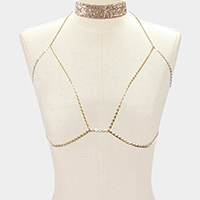 Mesh chain choker and Bra body chain necklace