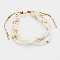Multi Stand Natural Stone Bracelet