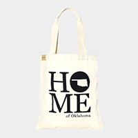 Home of Oklahoma _ Cotton canvas eco shopper bag