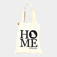 Home of Georgia _ Cotton canvas eco shopper bag