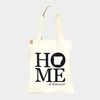 Home of Arkansas _ Cotton canvas eco shopper bag