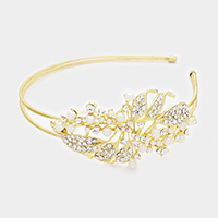Side Pearl Leaf Headband