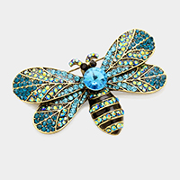 Pave Dragonfly Brooch
