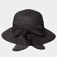 Ribbon Bow Straw Sun Hat