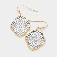 moroccan Filigree Casting Fish Hook Earring