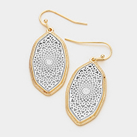 moroccan Filigree Casting OVal Fish Hook Earring