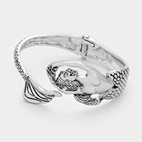 Metal Mermaid Hinged Cuff Bracelet