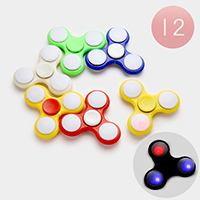 12 PCS - Light Up Hand Spinner Fidget Toys