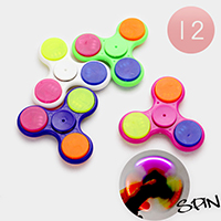 12 PCS - Spin & Light Hand Spinner Fidget Toys