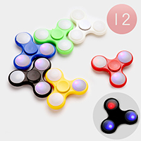 12 PCS - LED Light Up Hand Spinner Fidget Toys