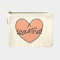 Love & Trust  _ Cotton canvas eco pouch bag